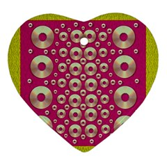 Going Gold Or Metal On Fern Pop Art Ornament (heart) by pepitasart