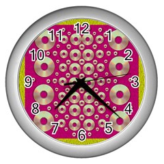Going Gold Or Metal On Fern Pop Art Wall Clocks (silver)  by pepitasart