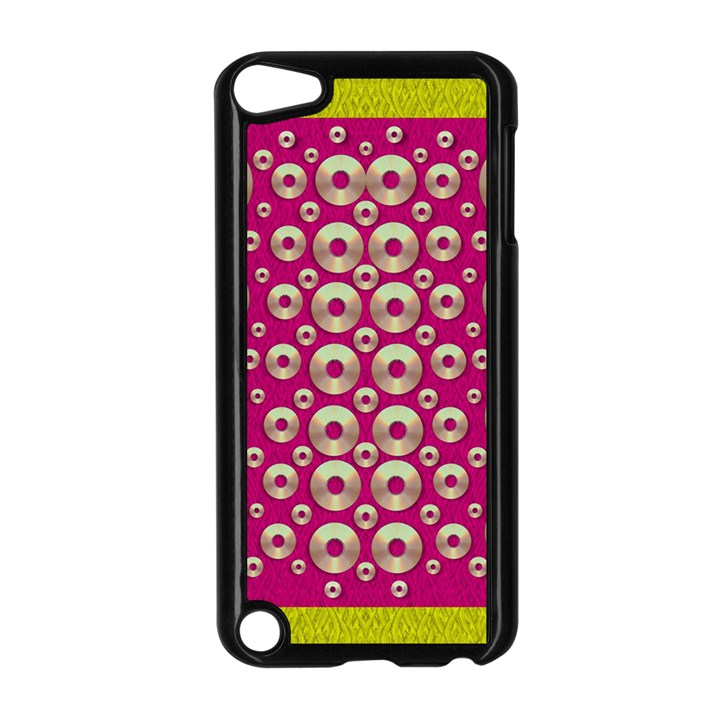 Going Gold Or Metal On Fern Pop Art Apple iPod Touch 5 Case (Black)