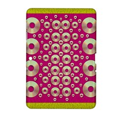 Going Gold Or Metal On Fern Pop Art Samsung Galaxy Tab 2 (10 1 ) P5100 Hardshell Case
