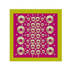 Going Gold Or Metal On Fern Pop Art Small Satin Scarf (square) by pepitasart