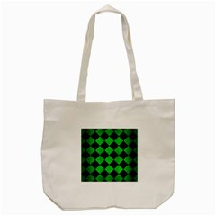 Square2 Black Marble & Green Brushed Metal Tote Bag (cream) by trendistuff