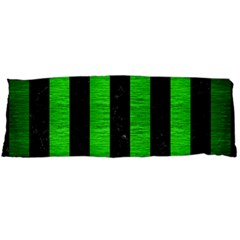 Stripes1 Black Marble & Green Brushed Metal Body Pillow Case Dakimakura (two Sides) by trendistuff