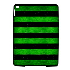 Stripes2 Black Marble & Green Brushed Metal Ipad Air 2 Hardshell Cases by trendistuff