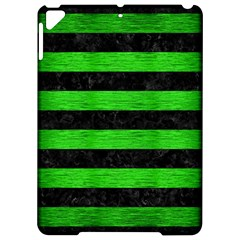 Stripes2 Black Marble & Green Brushed Metal Apple Ipad Pro 9 7   Hardshell Case by trendistuff