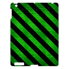 Stripes3 Black Marble & Green Brushed Metal (r) Apple Ipad 3/4 Hardshell Case by trendistuff