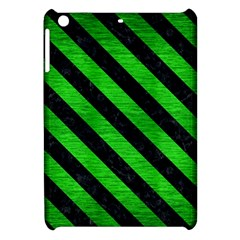 Stripes3 Black Marble & Green Brushed Metal (r) Apple Ipad Mini Hardshell Case by trendistuff