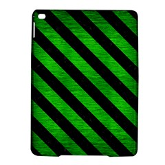Stripes3 Black Marble & Green Brushed Metal (r) Ipad Air 2 Hardshell Cases by trendistuff