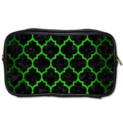 Tile1 Black Marble & Green Brushed Metal Toiletries Bags 2 Side by trendistuff