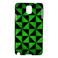 Triangle1 Black Marble & Green Brushed Metal Samsung Galaxy Note 3 N9005 Hardshell Case by trendistuff