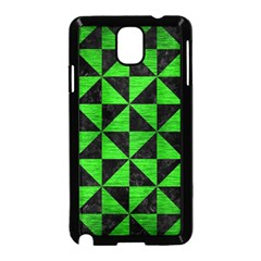 Triangle1 Black Marble & Green Brushed Metal Samsung Galaxy Note 3 Neo Hardshell Case (black) by trendistuff