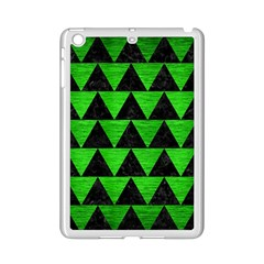 Triangle2 Black Marble & Green Brushed Metal Ipad Mini 2 Enamel Coated Cases by trendistuff