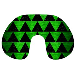 Triangle2 Black Marble & Green Brushed Metal Travel Neck Pillows