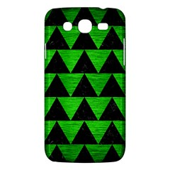 Triangle2 Black Marble & Green Brushed Metal Samsung Galaxy Mega 5 8 I9152 Hardshell Case  by trendistuff