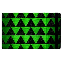 Triangle2 Black Marble & Green Brushed Metal Apple Ipad Pro 12 9   Flip Case by trendistuff