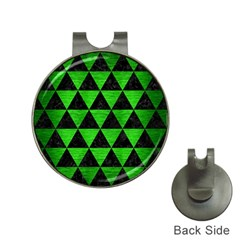 Triangle3 Black Marble & Green Brushed Metal Hat Clips With Golf Markers by trendistuff
