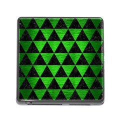 Triangle3 Black Marble & Green Brushed Metal Memory Card Reader (square) by trendistuff