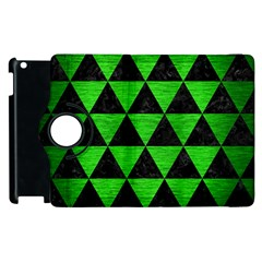 Triangle3 Black Marble & Green Brushed Metal Apple Ipad 2 Flip 360 Case by trendistuff