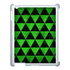 Triangle3 Black Marble & Green Brushed Metal Apple Ipad 3/4 Case (white) by trendistuff