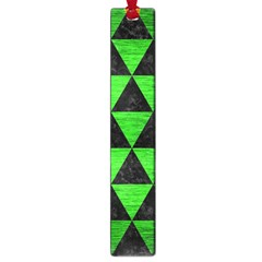 Triangle3 Black Marble & Green Brushed Metal Large Book Marks by trendistuff