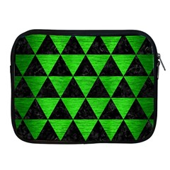 Triangle3 Black Marble & Green Brushed Metal Apple Ipad 2/3/4 Zipper Cases by trendistuff