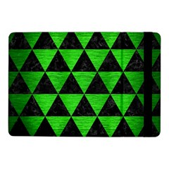Triangle3 Black Marble & Green Brushed Metal Samsung Galaxy Tab Pro 10 1  Flip Case