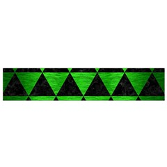 Triangle3 Black Marble & Green Brushed Metal Flano Scarf (small) by trendistuff