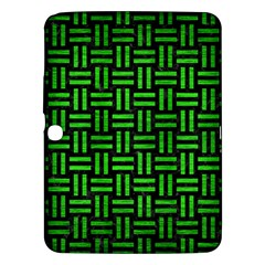 Woven1 Black Marble & Green Brushed Metal Samsung Galaxy Tab 3 (10 1 ) P5200 Hardshell Case  by trendistuff