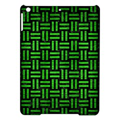 Woven1 Black Marble & Green Brushed Metal Ipad Air Hardshell Cases by trendistuff