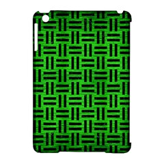 Woven1 Black Marble & Green Brushed Metal (r) Apple Ipad Mini Hardshell Case (compatible With Smart Cover) by trendistuff