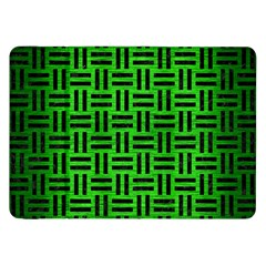 Woven1 Black Marble & Green Brushed Metal (r) Samsung Galaxy Tab 8 9  P7300 Flip Case by trendistuff