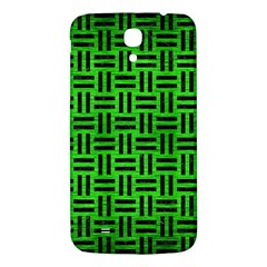 Woven1 Black Marble & Green Brushed Metal (r) Samsung Galaxy Mega I9200 Hardshell Back Case by trendistuff