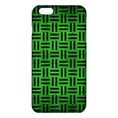 Woven1 Black Marble & Green Brushed Metal (r) Iphone 6 Plus/6s Plus Tpu Case by trendistuff