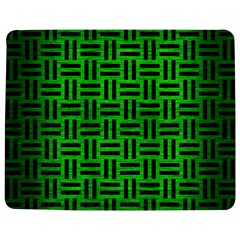 Woven1 Black Marble & Green Brushed Metal (r) Jigsaw Puzzle Photo Stand (rectangular) by trendistuff