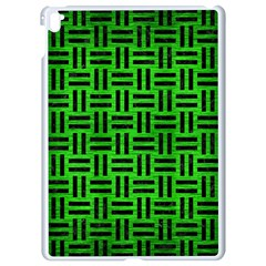 Woven1 Black Marble & Green Brushed Metal (r) Apple Ipad Pro 9 7   White Seamless Case by trendistuff