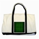 WOVEN2 BLACK MARBLE & GREEN BRUSHED METAL Two Tone Tote Bag Front