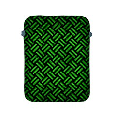 Woven2 Black Marble & Green Brushed Metal Apple Ipad 2/3/4 Protective Soft Cases by trendistuff