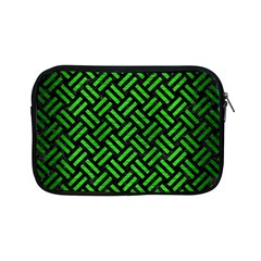 Woven2 Black Marble & Green Brushed Metal Apple Ipad Mini Zipper Cases by trendistuff