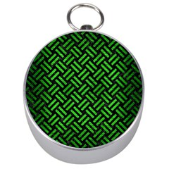 Woven2 Black Marble & Green Brushed Metal Silver Compasses by trendistuff