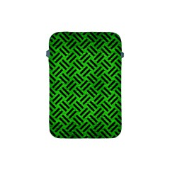 Woven2 Black Marble & Green Brushed Metal (r) Apple Ipad Mini Protective Soft Cases by trendistuff