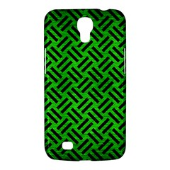 Woven2 Black Marble & Green Brushed Metal (r) Samsung Galaxy Mega 6 3  I9200 Hardshell Case by trendistuff