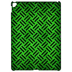 Woven2 Black Marble & Green Brushed Metal (r) Apple Ipad Pro 12 9   Hardshell Case by trendistuff