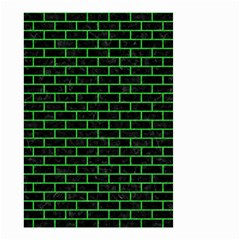 Brick1 Black Marble & Green Colored Pencil Small Garden Flag (two Sides) by trendistuff