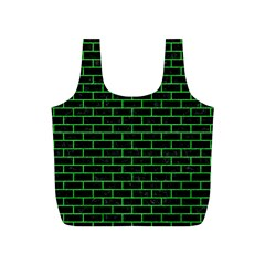 Brick1 Black Marble & Green Colored Pencil Full Print Recycle Bags (s)  by trendistuff