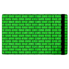 Brick1 Black Marble & Green Colored Pencil (r) Apple Ipad 2 Flip Case by trendistuff