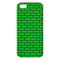 Brick1 Black Marble & Green Colored Pencil (r) Apple Iphone 5 Premium Hardshell Case