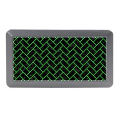 Brick2 Black Marble & Green Colored Pencil Memory Card Reader (mini) by trendistuff