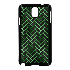 Brick2 Black Marble & Green Colored Pencil Samsung Galaxy Note 3 Neo Hardshell Case (black) by trendistuff