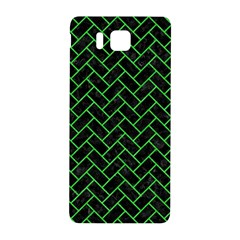 Brick2 Black Marble & Green Colored Pencil Samsung Galaxy Alpha Hardshell Back Case by trendistuff