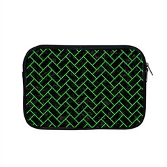 Brick2 Black Marble & Green Colored Pencil Apple Macbook Pro 15  Zipper Case by trendistuff